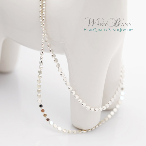 Silver Circle Chain Necklace