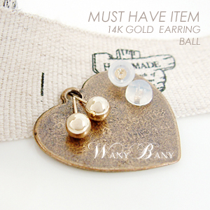 ▒14K GOLD▒ Ball Earrings