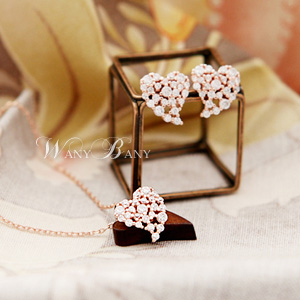 Cubic Heart Necklace [실버체인]