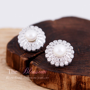 Sun Flower Pearl Earring[The Blossom]