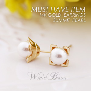 ▒14K GOLD▒ Summit Pearl Earrings