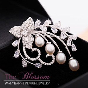 Blooming Flower Pearl Brooch [브로치] ■ The Blossom ■