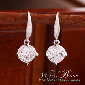 Silver Bling Crown Earrings