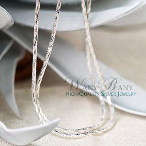 Silver Twist Chain Necklace